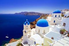 Beautiful Oia town on Santorini island. Greece Stock Image