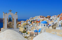 Beautiful Oia Village at Santorini Greece , cyclades Royalty Free Stock Photo