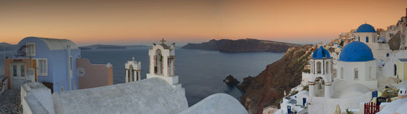Beautiful Oia Village at Santorini Greece , cyclades Stock Photography