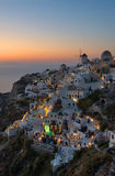Beautiful Oia Village at Santorini Greece , cyclades Stock Photos