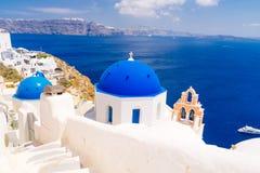 Beautiful Oia village on Santorini, Greece Royalty Free Stock Photography