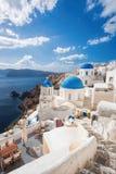 Beautiful Oia village on Santorini island in Greece Royalty Free Stock Photos