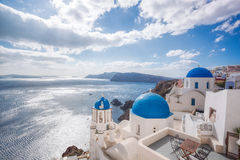 Beautiful Oia village on Santorini island in Greece Stock Photography