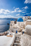 Beautiful Oia village on Santorini island in Greece Stock Photo