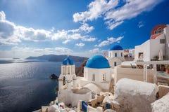 Beautiful Oia village on Santorini island in Greece Royalty Free Stock Photo