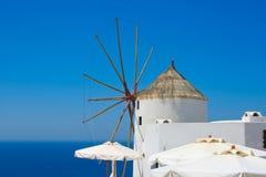 Beautiful Oia windmill Stock Photos