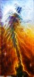 A beautiful oil painting on canvas of a nebulae vortex on a cosm Royalty Free Stock Images