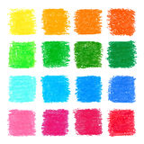 Beautiful oil pastel square design elements for your design. Royalty Free Stock Photo