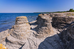 Beautiful Oland's sea cliffs Stock Photo