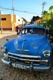 Beautiful old American car on the street of Trinidad, Cuba Stock Photos