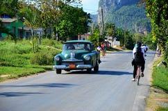 Beautiful old American car in Vinales, Cuba Stock Photo