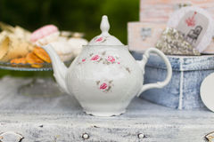 Beautiful old antique tea service Stock Images