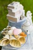 Beautiful old antique tea service Stock Photo