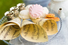 Beautiful old antique tea service Stock Photos