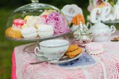 Beautiful old antique tea service Stock Image