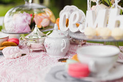 Beautiful old antique tea service Royalty Free Stock Photos