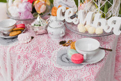 Beautiful old antique tea service Royalty Free Stock Photography