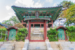 Beautiful and Old Architecture in Changdeokgung Palace in Seoul Stock Photography