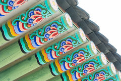 Beautiful and Old Architecture in Gyeongbokgung Palace in Seoul Royalty Free Stock Photo