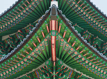 Beautiful and Old Architecture in Gyeongbokgung Palace in Seoul Stock Photos