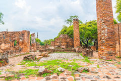 Beautiful old architecture historic of Ayutthaya in Thailand Royalty Free Stock Photos