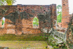 Beautiful old architecture historic of Ayutthaya in Thailand Royalty Free Stock Images