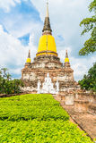 Beautiful old architecture historic of Ayutthaya in Thailand Royalty Free Stock Photo