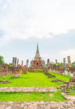 Beautiful old architecture historic of Ayutthaya in Thailand Stock Photo