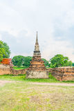 Beautiful old architecture historic of Ayutthaya in Thailand Royalty Free Stock Photography