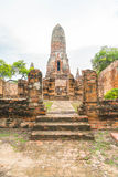 Beautiful old architecture historic of Ayutthaya in Thailand Stock Image