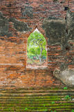 Beautiful old architecture historic of Ayutthaya in Thailand Stock Photography