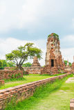 Beautiful old architecture historic of Ayutthaya in Thailand Stock Images