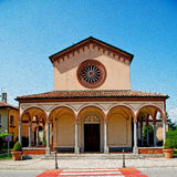 Beautiful old architecture in italy europe milan religion and su Royalty Free Stock Image