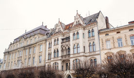 Beautiful old architecture in Lviv.  royalty free stock photography