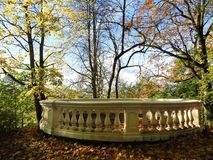 Beautiful autumn trees and resting place, Lithuania Royalty Free Stock Images