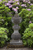 Beautiful old bluestone garden ornament in castle estate Twickel Stock Image