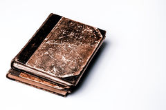 Beautiful old book closeup on white background Royalty Free Stock Photos