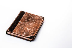 Beautiful old book closeup on white background Royalty Free Stock Images