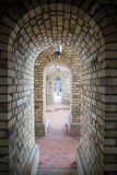 Beautiful old brick arch tunnel Stock Photos