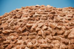 An ancient bricks wall around a place. Beautiful old bricks wall around an ancient place unique royalty free image royalty free stock photography