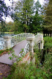 Beautiful old bridge. In the Park of the Gatchina Palace Stock Photo