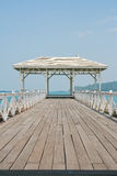 The Beautiful old bridge on Sri chang island Royalty Free Stock Photos