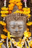 Beautiful Old Buddha. In thailand Stock Images