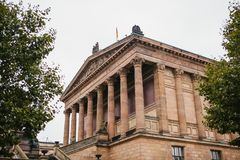 Beautiful old building of the Berlin national gallery. Beautiful old building of the Berlin national gallery Royalty Free Stock Photography