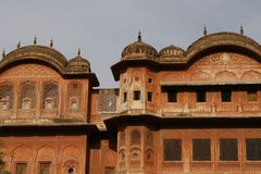 Beautiful old building of Jaipur (Pink City) India Royalty Free Stock Photos