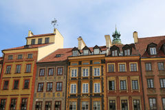 Beautiful Old  Buildings at Old Town in  Warsaw Royalty Free Stock Photo