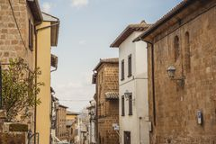 Beautiful old buildings in Orvieto, Rome. Suburb, Italy royalty free stock image