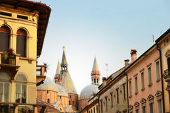 Beautiful old buildings and Saint Anthony Church i Stock Photography