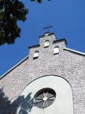 Beautiful old Catholic church top, Lithuania royalty free stock photos