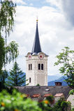 Beautiful old catholic church tower Royalty Free Stock Photo